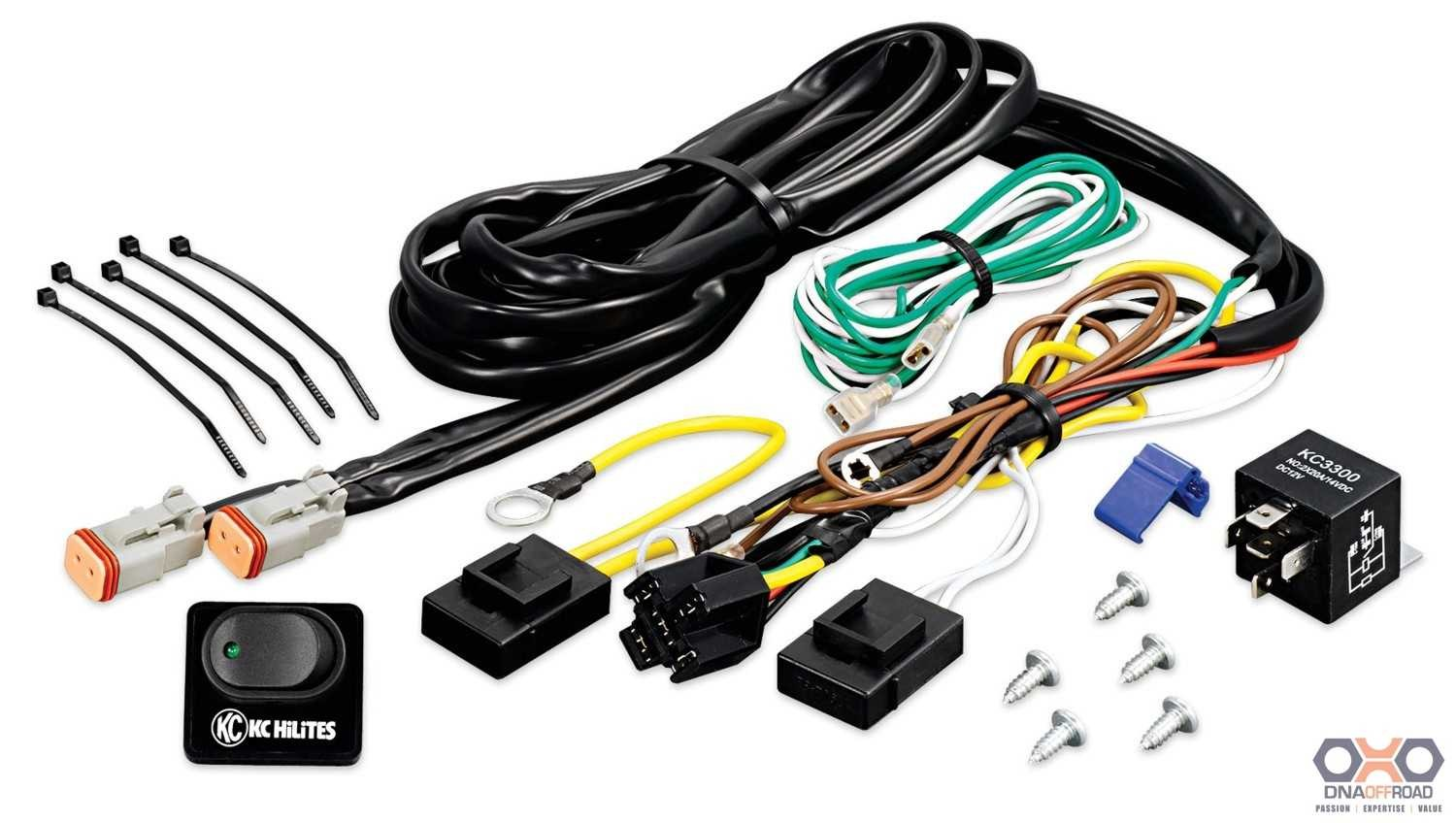 6315_1_1 kc hilites wiring harness with 40amp replay and led rocker switch