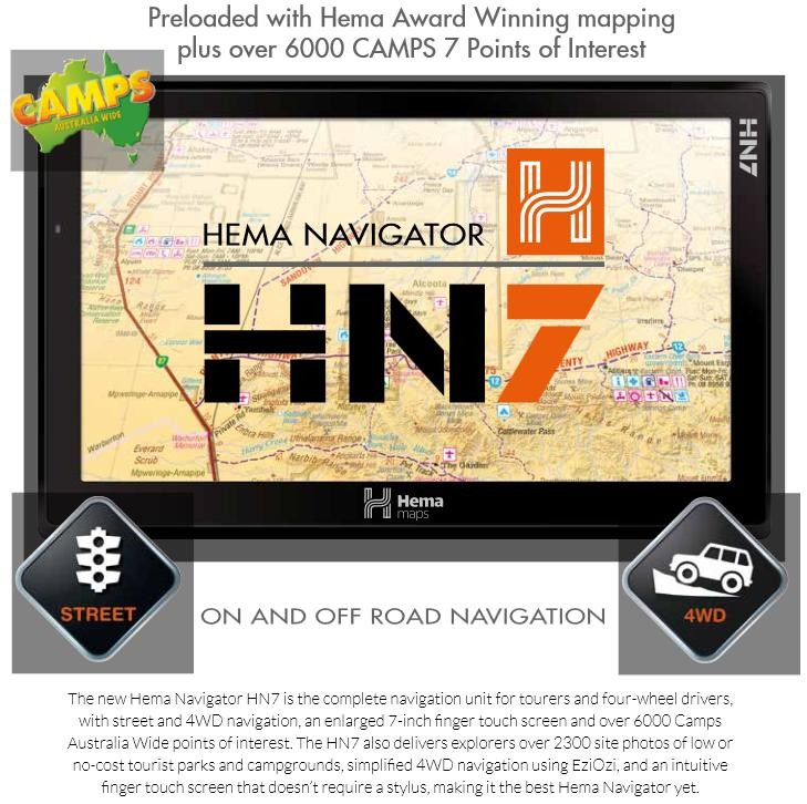 Hema Navigator HN7 - with 7 inch high res screen