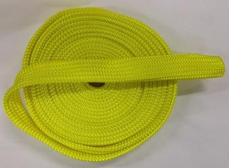 Winch rope protective sleeve for 8, 9,10,11,12mm ropes - per metre yellow