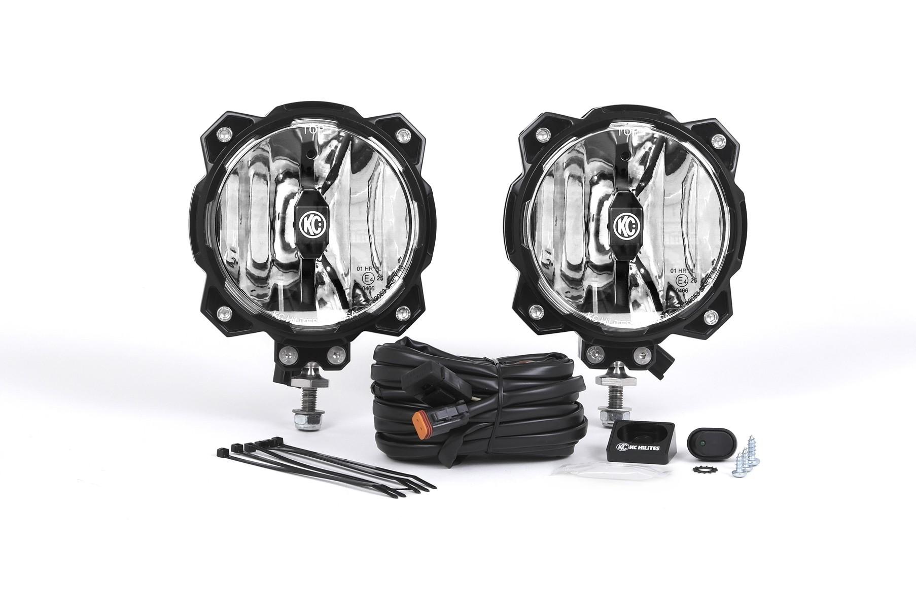 KC HiLiTES Gravity LED PRO6 pair pack system