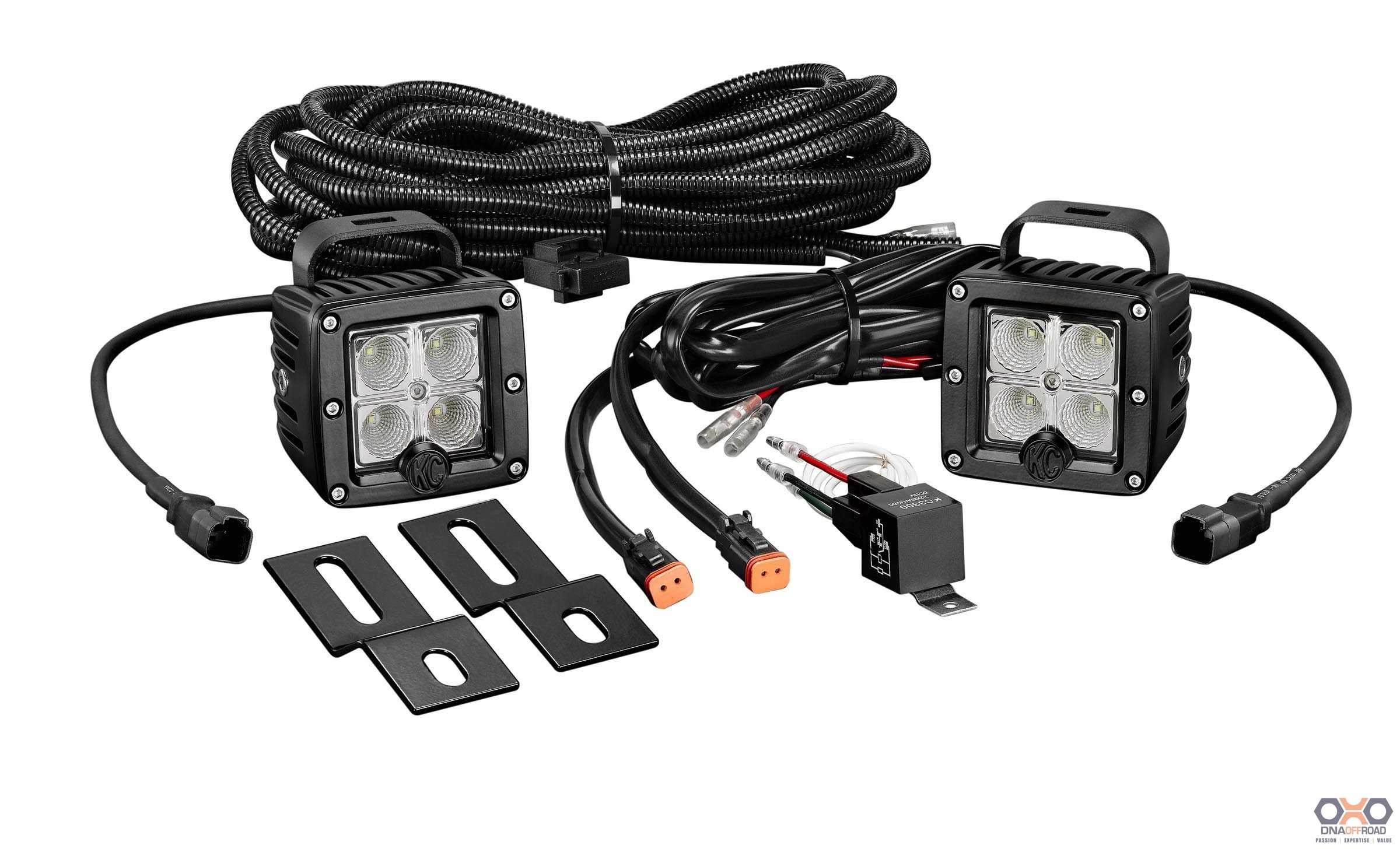 "KC HiLiTES 3"" C-Series C3 LED pair pack clear backup/flood"