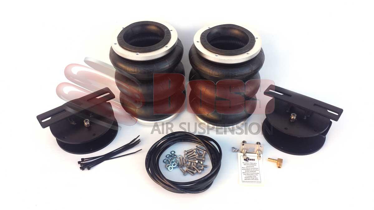 Triple air bag Toyota Landcruiser rear suspension