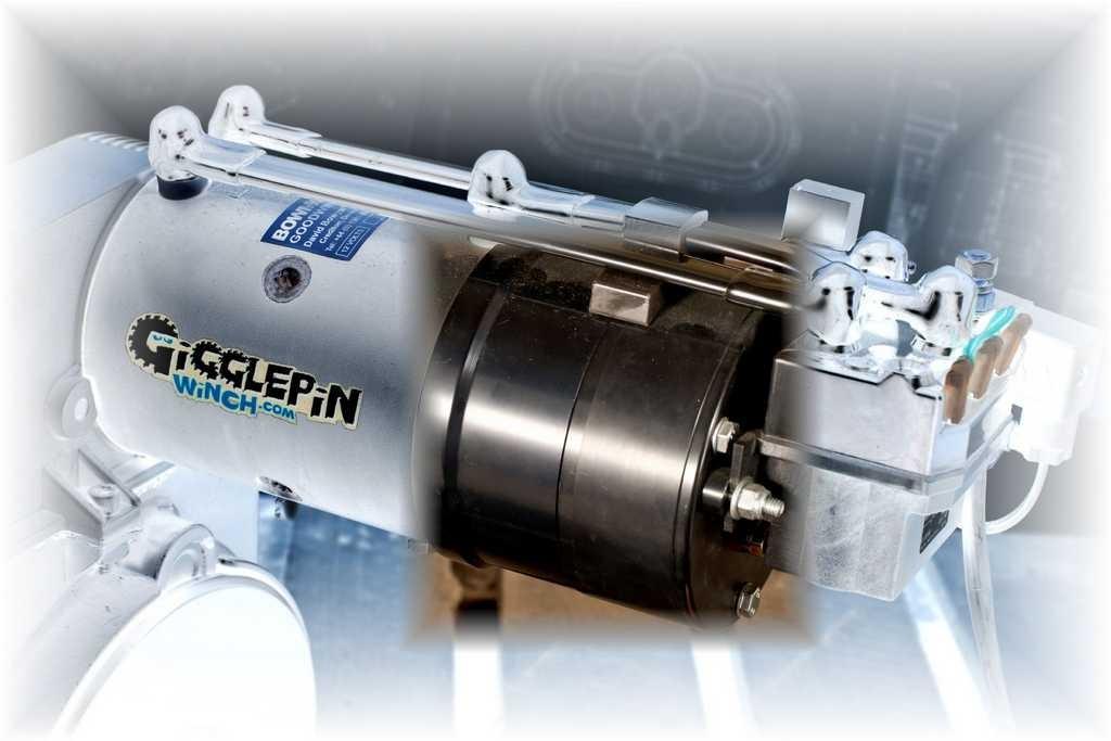 Gigglepin motor brake system