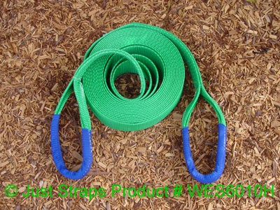 Just Straps 60mm/10M heavy duty winch extension strap