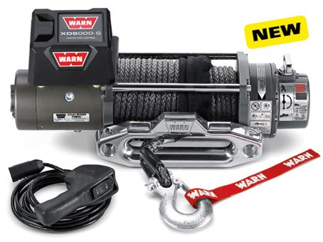 Warn winch XD9000-S with synthetic rope