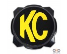 KC HiLiTES Gravity PRO6 balck light cover with yellow KC logo