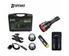 Speras Focus Adjustable LED Torch - White, Red & Green