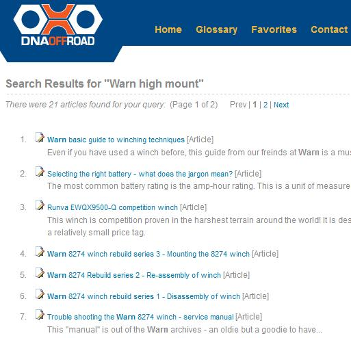 Warn high mount knowledge base search results